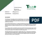 Superintendent Pharmacist - Trust Pharmacy - Job Description