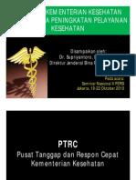Kebijakan Kementrian Keshatan Dalam Upaya Penibgkatan Pelayanan Kedsehatan_ Supriyantoro. Dr.sp.p