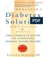 Dr. Bernstein s Diabetes Solution - A Complete Guide to Achieving Normal Blood Sugars