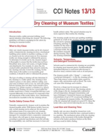 Commercial Dry Cleaning of Museum Textiles