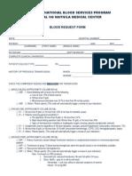 Blood Request Private
