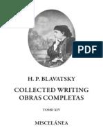 Blavatsky Helena - Collected Writings Tomo XIV