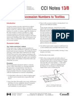 Applying Accession Numbers to Textiles