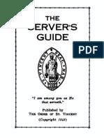 Server's Guide - Order of St Vincent