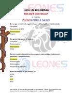 3er Banco Biología Molecular LEONES POR LA SALUD