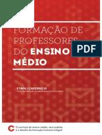 Formação de Professores Do Ensino Médio - Caderno 3