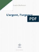 l Argent l Urgence