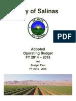 COS 2014-2015 Operating Budget