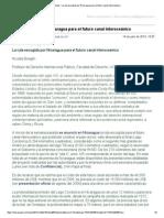 Gmail - La Ruta Escogida Por Nicaragua Para El Futuro Canal Interoceánico