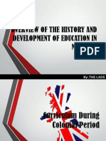 Overview of the History and Development of Education in Malaysia