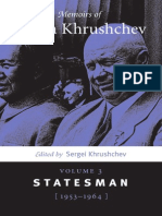 Memoirs of Nikita Khrushchev Volume 3