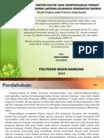 Analisis Faktor2 Yg Mempengaruhi Tk Pengungkapan LKPD Di Jabar 2012