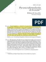 William Sewell- Por una reformulación de lo social