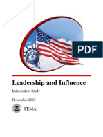 FEMA Course - Leadership and Influence IS240 (2005) WW