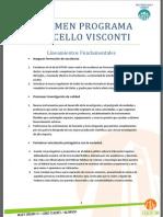 Resumen Programa Marcello Visconti