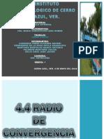 4.4 Radio de Convergencia