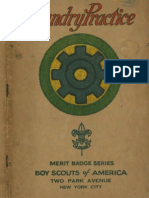 Boy Scouts of America Merit Badge for Foundry Practice 1930