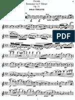 Romanze Para Violino e Orquestra Op 11 (Versão Violino e Piano) - Dvorak