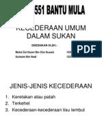 Kecederaan Umum Dalam Sukan (General Sport Injury)