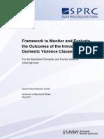 Dv Clauses Monitoring Evalulation Framework 2011