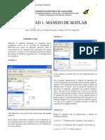 MANEJO DE MATLAB