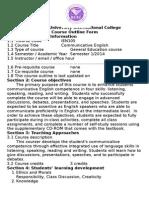 course outline ien105 semester 1 2014