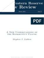 Cláusula Ipso Facto - Bankruptcy Clause Abstract