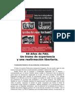 Lucha Libertaria 50 Años de La FAu