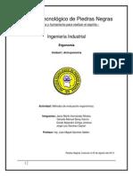 Metodos de Evaluacion Ergonomica