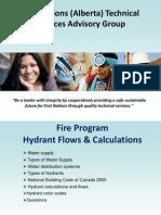 TSAG Fire Program Hydrant Flows and Calculations
