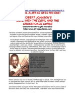 Robert Johnson the Crossroads Curse the Blues and Rock Music