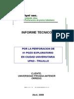 130611 Upao Inf 1 Pozo Exploratorio en Ciudad Universitaria