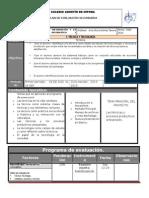 Plan y Programa de Evaluacion 1o 14 15