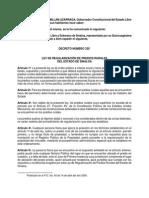 Ley de Regularizacion de Predios Rurales Del Estado de Sinaloa
