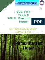 Isu II c Pemuliharaan Hutan