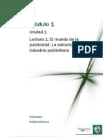 Lectura M1- El Mundo de La Publicidad La Estructura de La Industria Publicitaria
