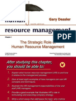 Strategic Role of Human Resource Management