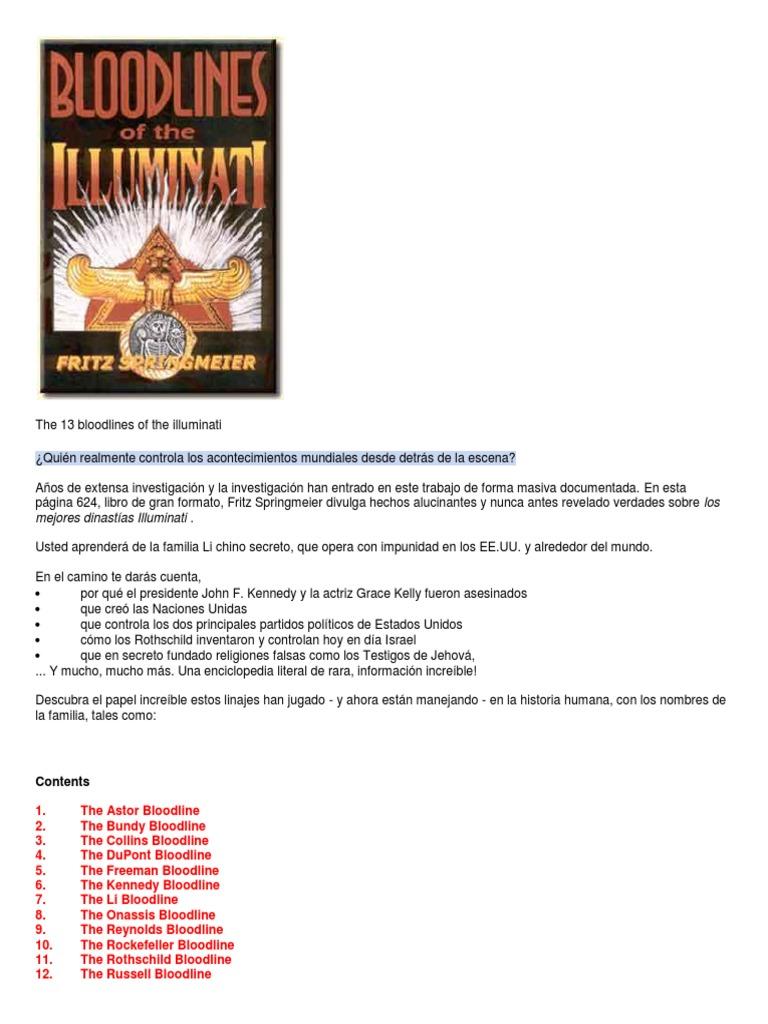 Fritz Springmeier Bloodline Illuminati
