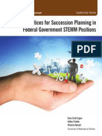 Best Practices for Succession Planning in Federal Government STEMM Positions
