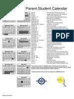 2014-2015 Student Calendar