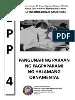EPP 4 MISOSA - Pangunahing Paraan Ng Pagpaparami Ng Halamang Ornamental
