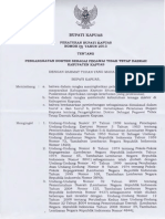 Peraturan Bupati Tentang Pengangkatan Dokter Sebagai Tenaga PTT Daerah