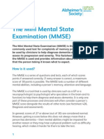 The Mini Mental State Examination MMSE Factsheet