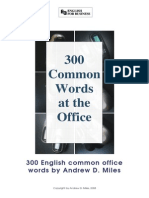 300 Common Words at the Office English to Spanish