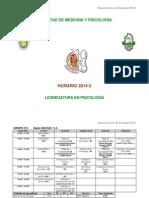 Horario 2014-2 Final 01 Ago