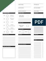 Swords & Wizardry Character Sheet