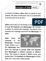 Islamic Studies Worksheet 2.2 Iman - The Messengers of Allah