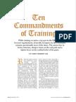 The 10 Commandments of Training