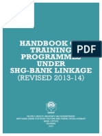 Training Handbook on Training Programmes Under SHG BLRevised 2013-14Final