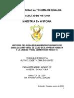 Tesis Historia Del Desarrollo Hidroeconomico de Sinaloa